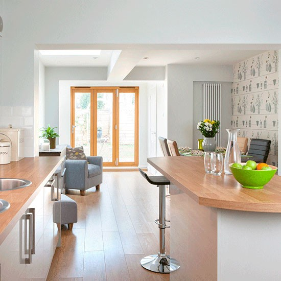 Calming Kitchen Colour Scheme Take A Tour Of This Light