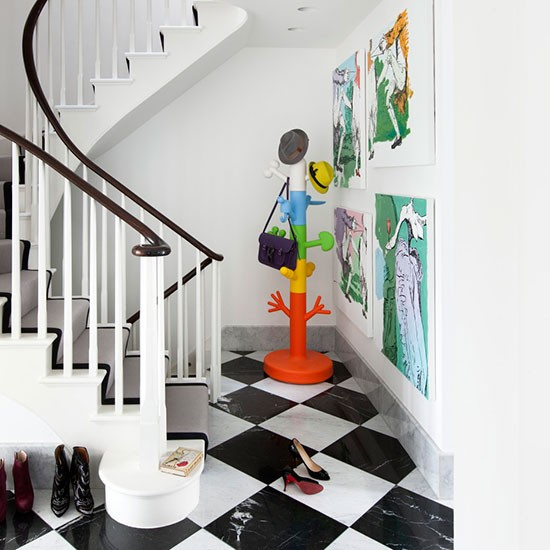 Quirky monochrome hallway modern hallway ideas 10 of for Quirky apartment design