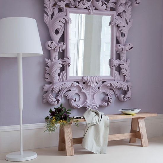 Subtle lilac hallway modern hallway ideas 10 of the for Interieur ideeen hal