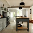Solid-oak country-style kitchen