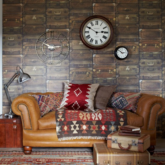 Textured country living room