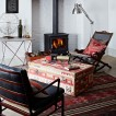 Global-inspired patterned living room