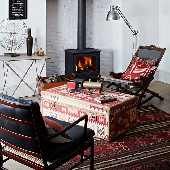 Ethnic prints living room