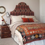 Orange ikat bedroom