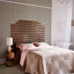 Geometric patterned bedroom