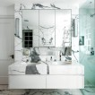 White and grey marble bathroom