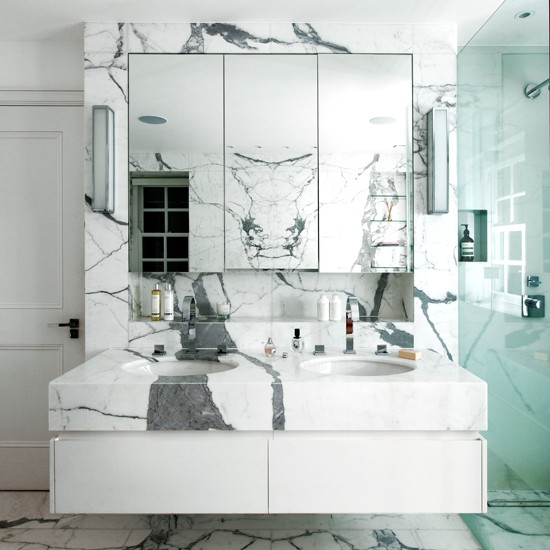 White and grey marble bathroom bathroom decorating for White marble bathroom