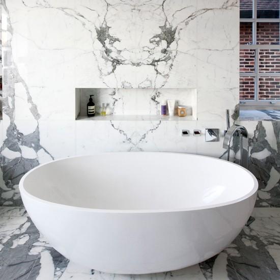 Modern Marble Bathroom Bathroom Decorating Housetohome