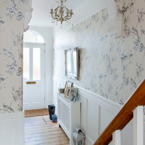 Off-white floral hallway | Hallway decorating | housetohome.