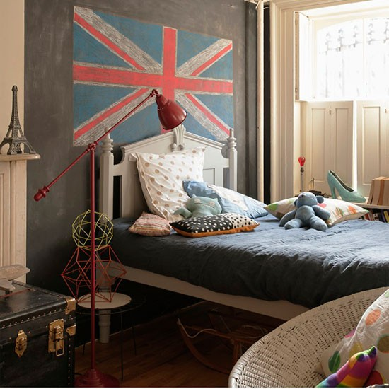 Child 39 s room with union jack children 39 s bedroom ideas for Union jack bedroom ideas
