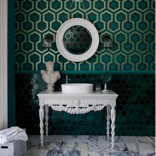 Geometric Green Wallpaper Colour Of The Year 2013