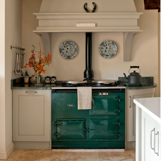 Green range cooker colour of the year 2013 emerald green for Kitchen designs with aga cookers
