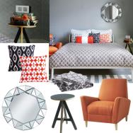 Grey geometric bedroom