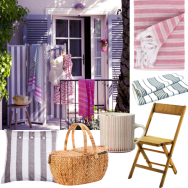 Stripey summer garden