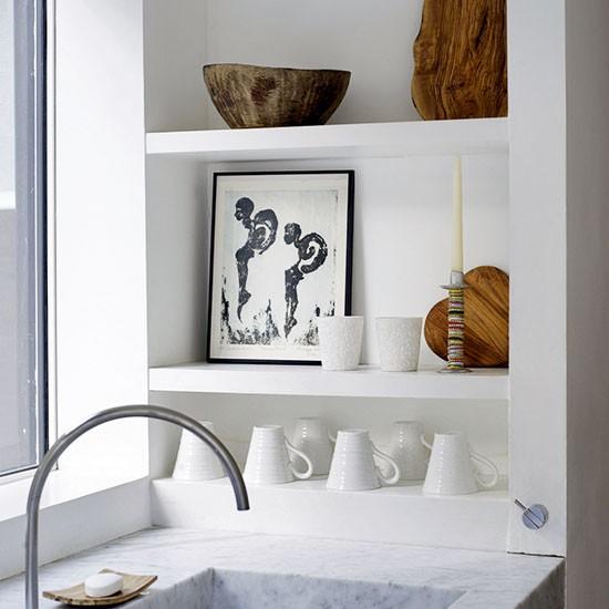 Kitchen Wall Shelving Ideas: Niche Kitchen Shelving