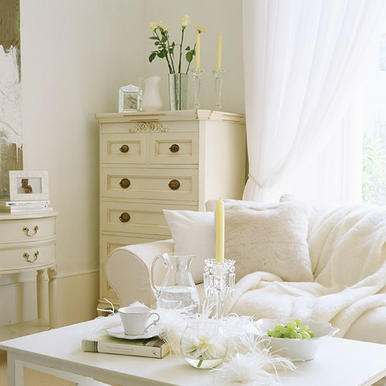 Cream and white living room white living room ideas Pictures of white living rooms
