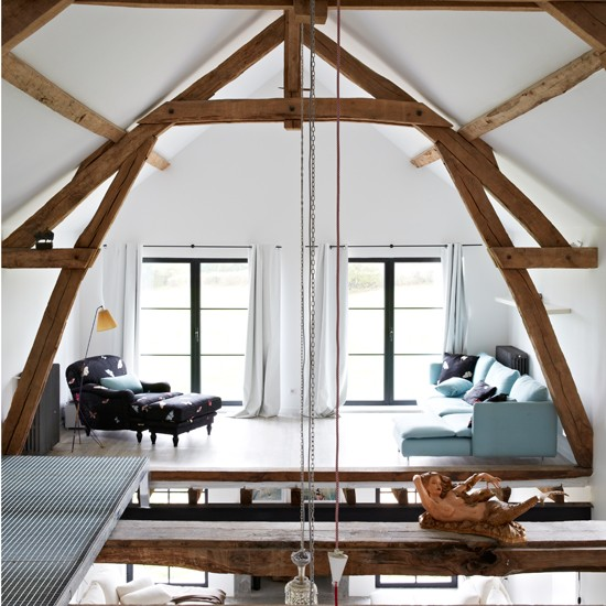 Mezzanine living room | Rustic French retreat | House tour | PHOTO GALLERY | Livingetc | Housetohome.co.uk