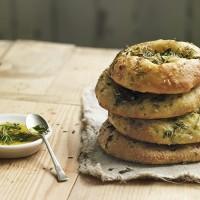 Garlic and herb flatbreads