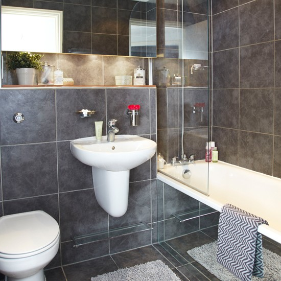 Modern Slate Grey Bathroom Bathroom Decorating Style At Home