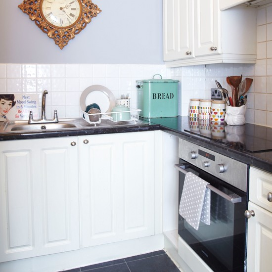 small grey and white kitchen kitchen decorating