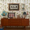 Dining room with retro sideboard