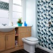 Retro patterned bathroom
