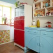 Retro painted kitchen