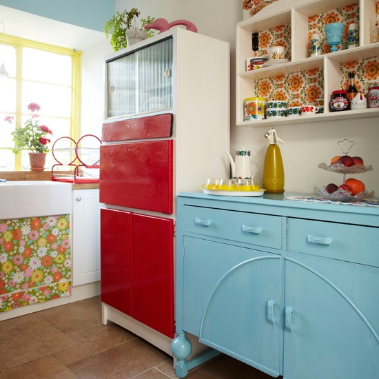Retro Multicoloured Kitchen Kitchen Decorating Style At Home