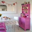 Hot pink dining room