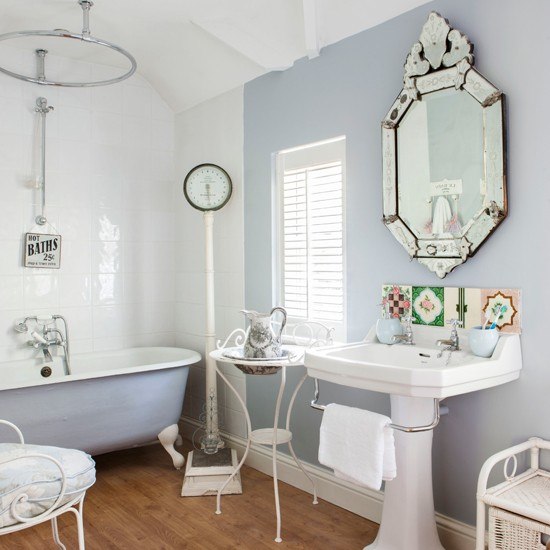 soft blue and white french style bathroom bathroom