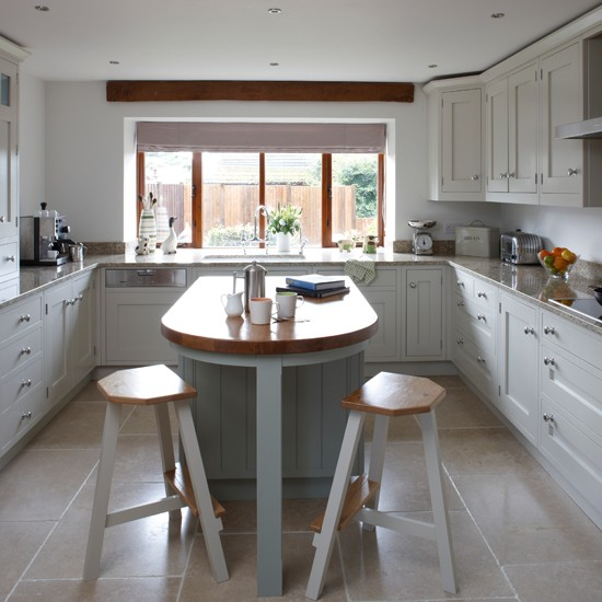 White and wood shaker style kitchen traditional kitchen decorating