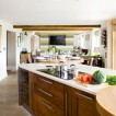 Walnut wood kitchen-diner
