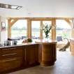 Walnut and timber kitchen
