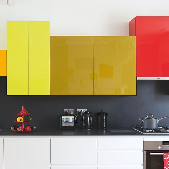 Contemporary colour block kitchen | Modern decorating ideas | Beautiful Kitchens | Housetohome.co.uk