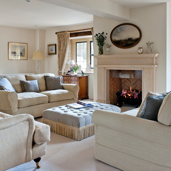 Housetohome Co Uk: Neutral Opulent Living Room