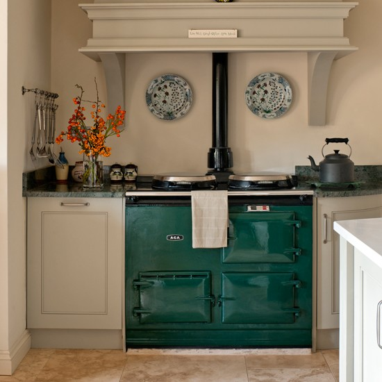 Classic Green And Neutral Kitchen