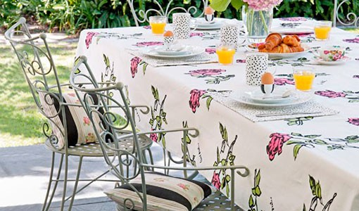 Floral garden table