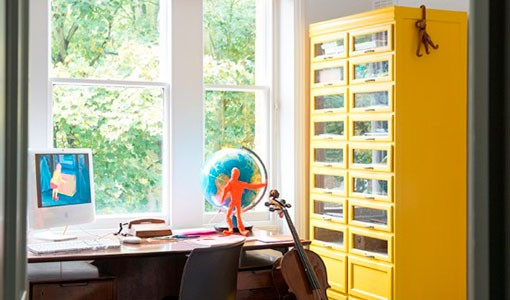 Sixties-inspired home office