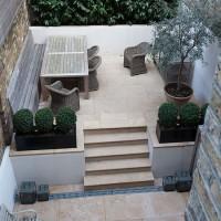 Limestone terrace garden