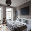 Soft grey and white Nordic bedroom