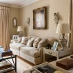 Pale decorative living room