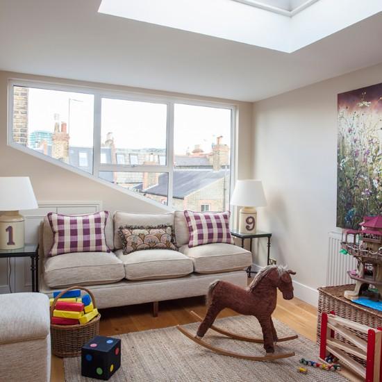 Neutral Loft Playroom Bedroom Decorating Ideas