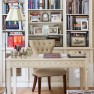 Neutral elegant home office | Home office decorating ideas