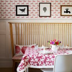 Dining room with pink motif design