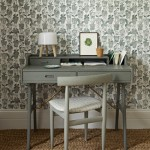 Sage green home office