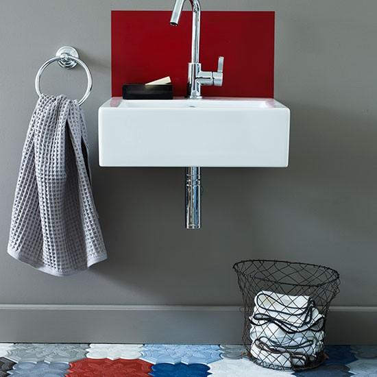 bold patterned cloakroom bathroom decorating ideas