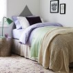 Lilac and neutral bedroom