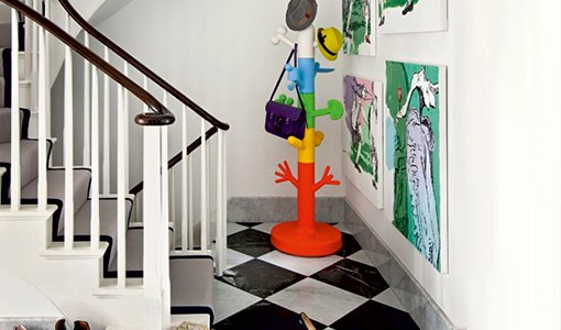Take a tour around a north London home filled with contemporary artwork