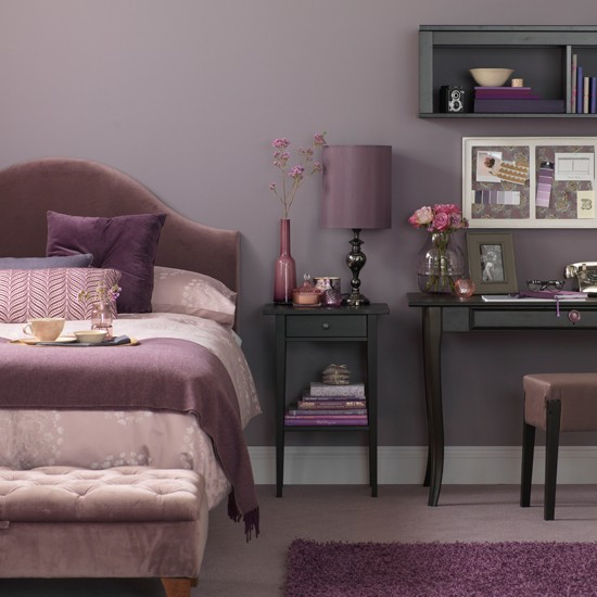 lavender bedroom with desk bedroom decorating ideas
