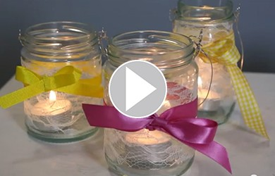 Video: How to make a pretty jam jar lantern